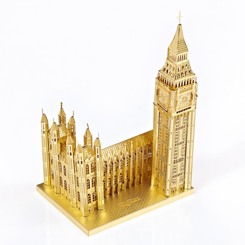 Great Gifts Idea Piececool 3D Metal Model Kits-Big Ben DIY 3D Metal Puzzle for Adults-London Landmarks Architecture Model Kit